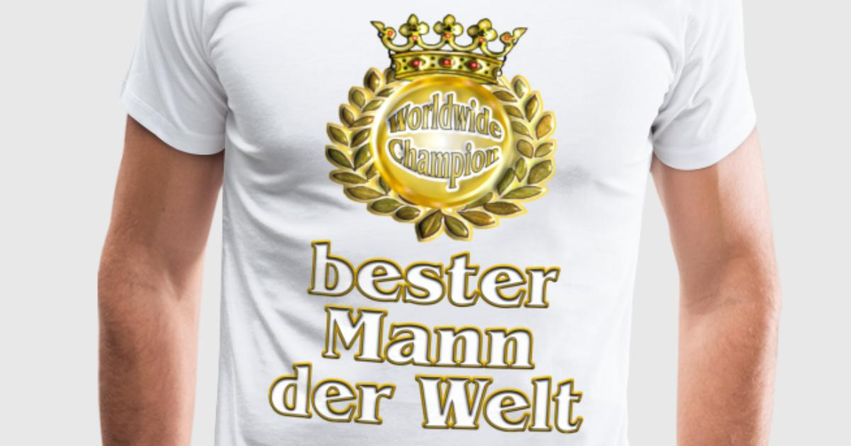 bester mann der welt goldene serie t shirt spreadshirt. Black Bedroom Furniture Sets. Home Design Ideas