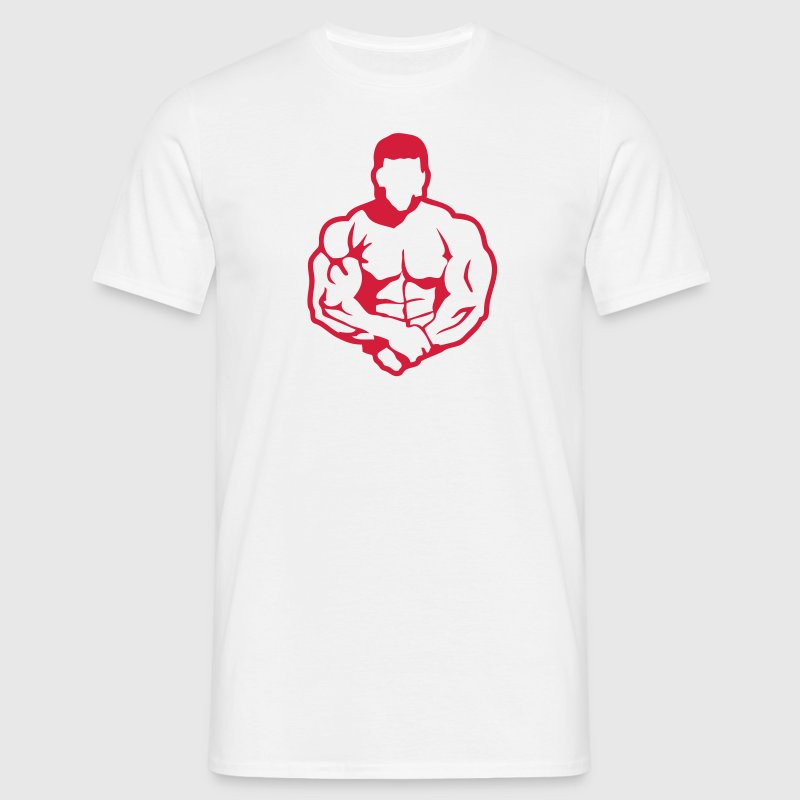 bodybuilding corps musculation3 logo clu Tee shirts - T-shirt Homme