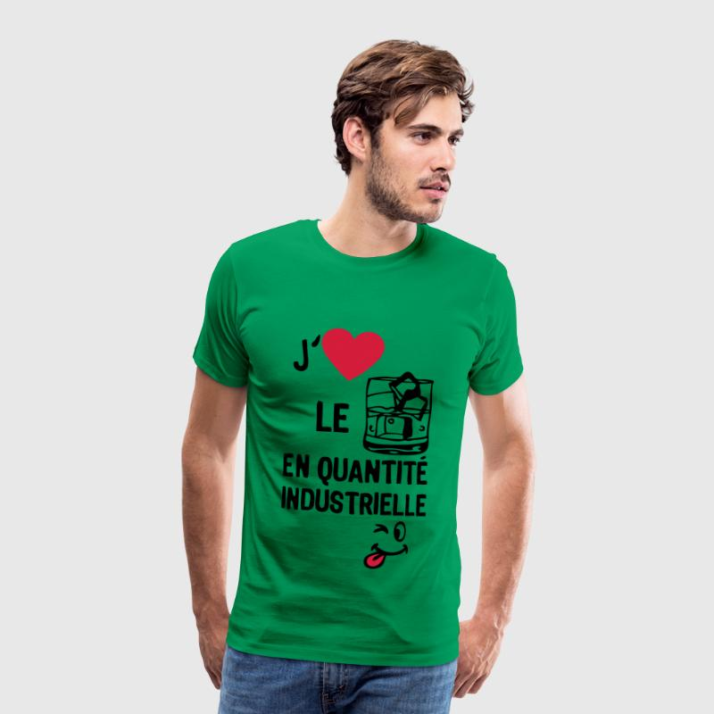 love aime alcool whisky quantite industr Tee shirts - T-shirt Premium Homme