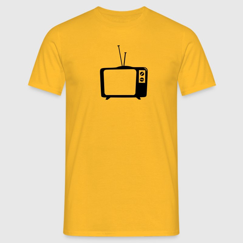 TV, TV, telly, flat tv, led, screen, tube, retro, ground glass, - Men's T-Shirt