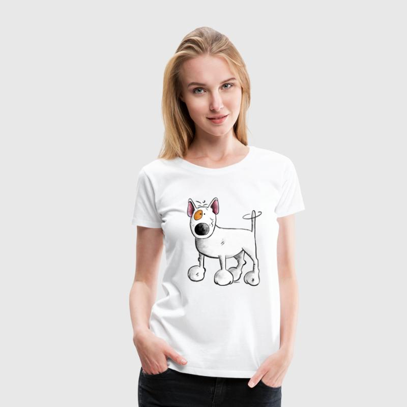 Bull Terrier- English Bull Terrier- Cartoon  T-Shirts - Women's Premium T-Shirt
