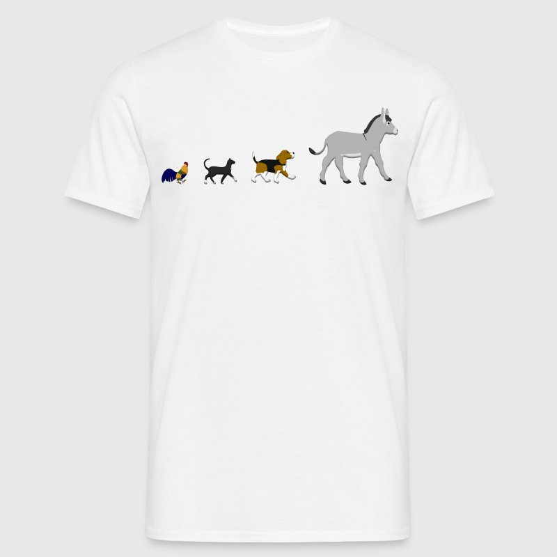 Dog, cat, cock, donkey T-Shirts - Men's T-Shirt