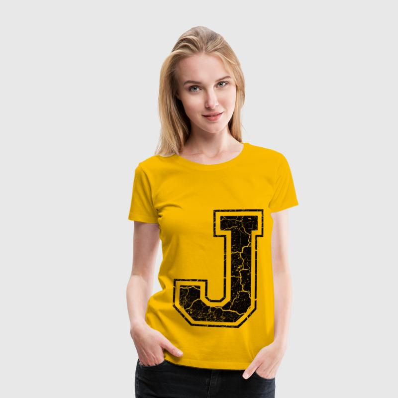 Letter J in the grunge look T-Shirts - Women's Premium T-Shirt