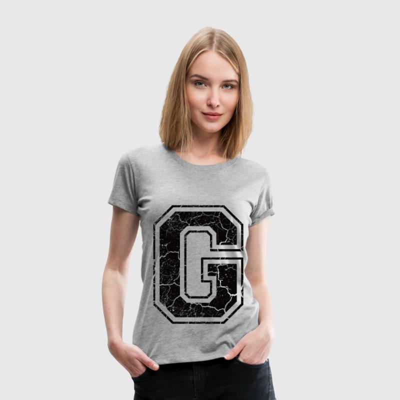 Letter G in the grunge look T-Shirts - Women's Premium T-Shirt