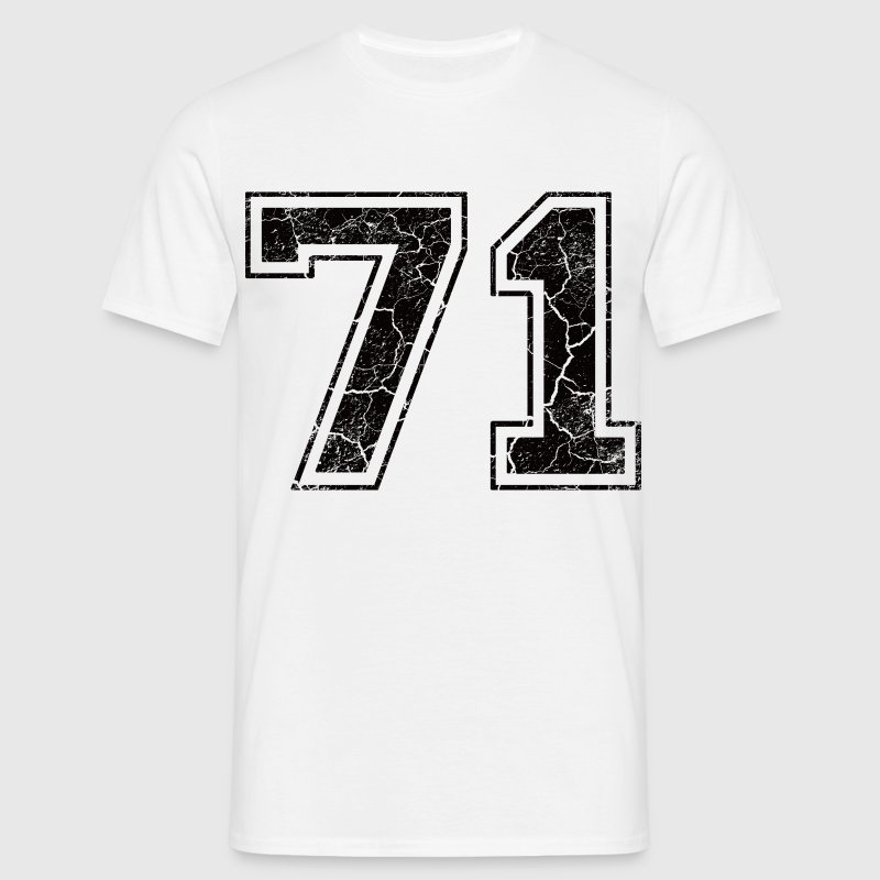 Number 71 in the grunge look T-Shirts - Men's T-Shirt