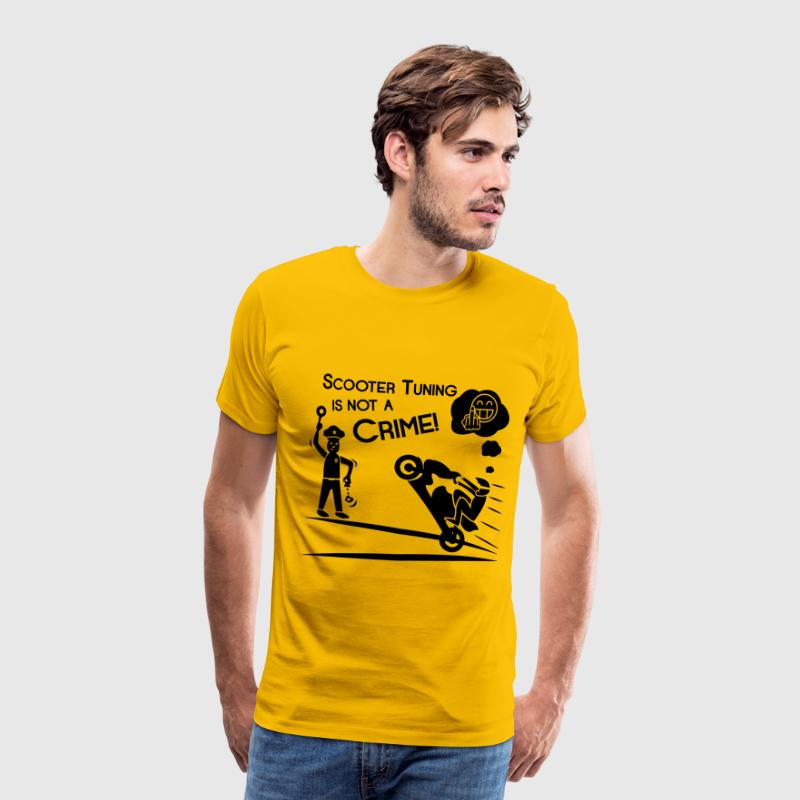 Scooter Tuning is geen Misdaad! - Mannen Premium T-shirt