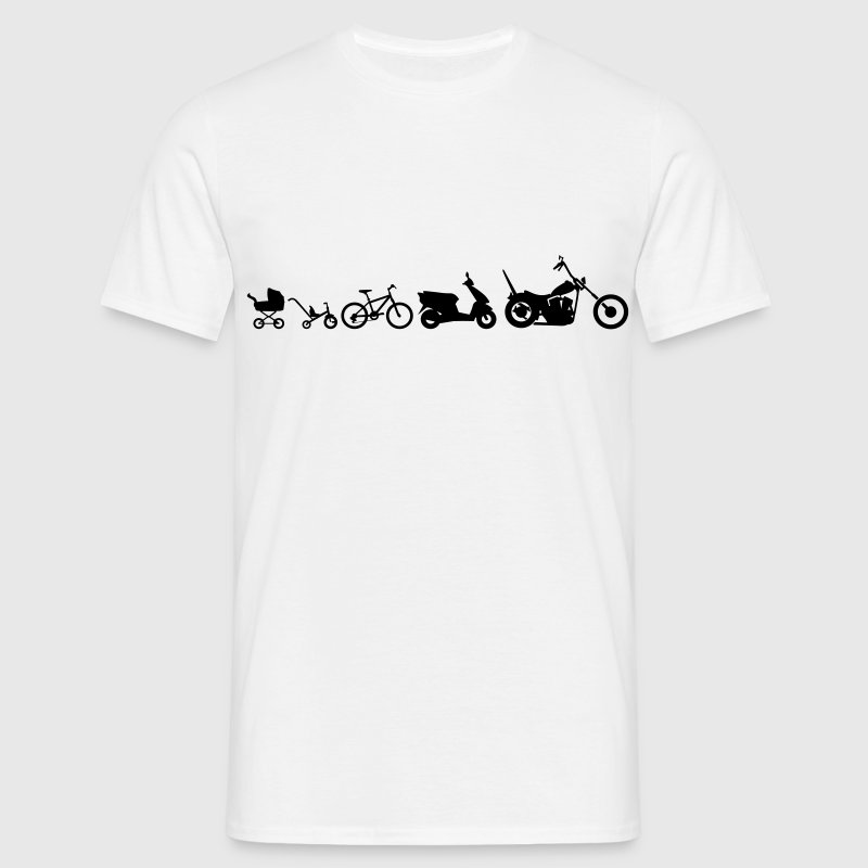 Motorcycle Evolution Chopper  T-Shirts - Men's T-Shirt
