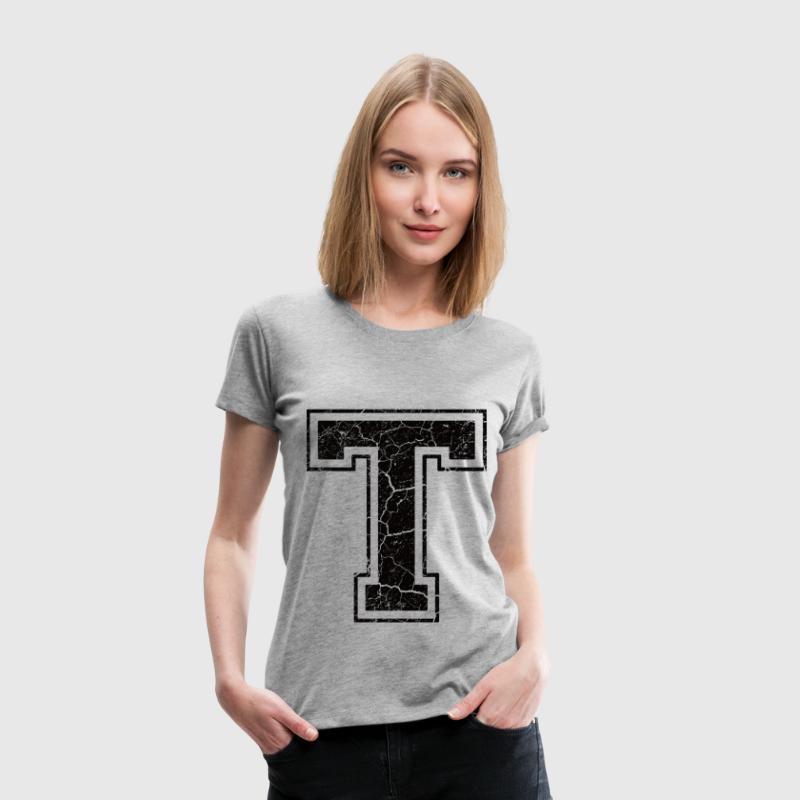 Letter T in grunge look T-Shirts - Women's Premium T-Shirt