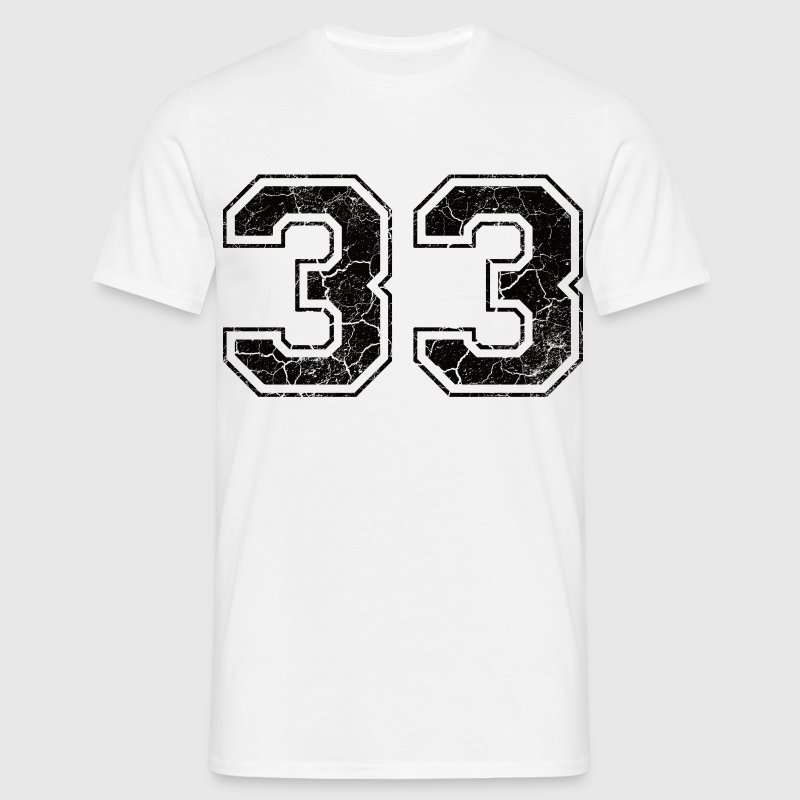 Number 33 in the used look T-Shirts - Men's T-Shirt