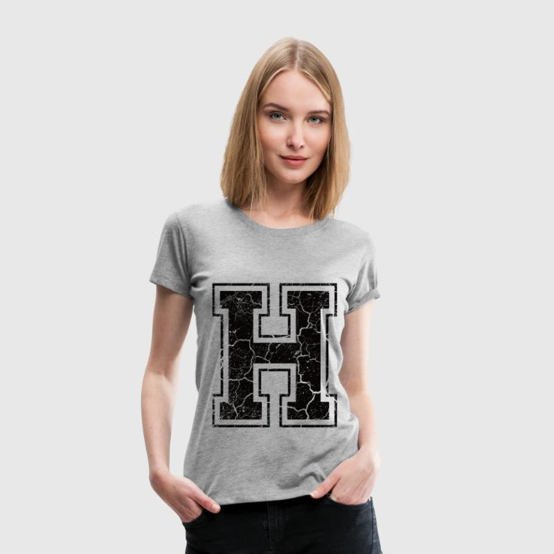 Letter H in the grunge look T-Shirts - Women's Premium T-Shirt