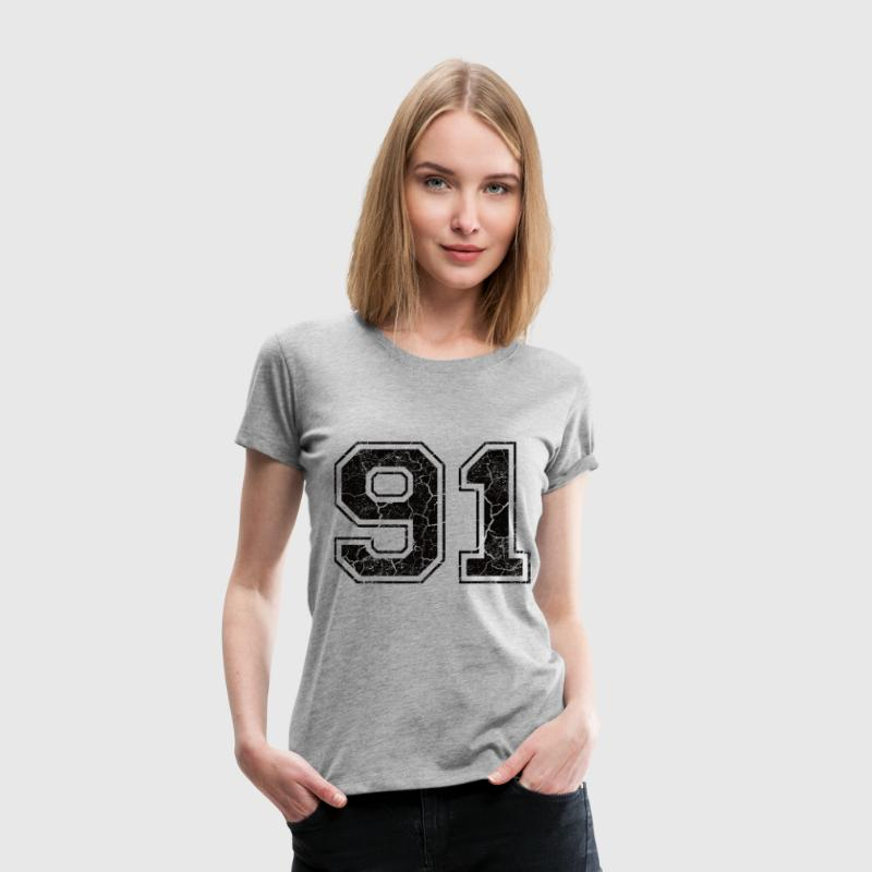 Number 91 in the grunge look T-Shirts - Women's Premium T-Shirt