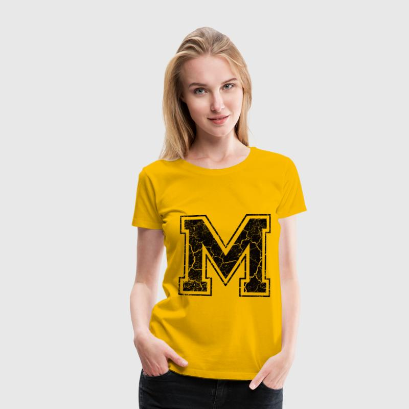 Letter M in the grunge look T-Shirts - Women's Premium T-Shirt