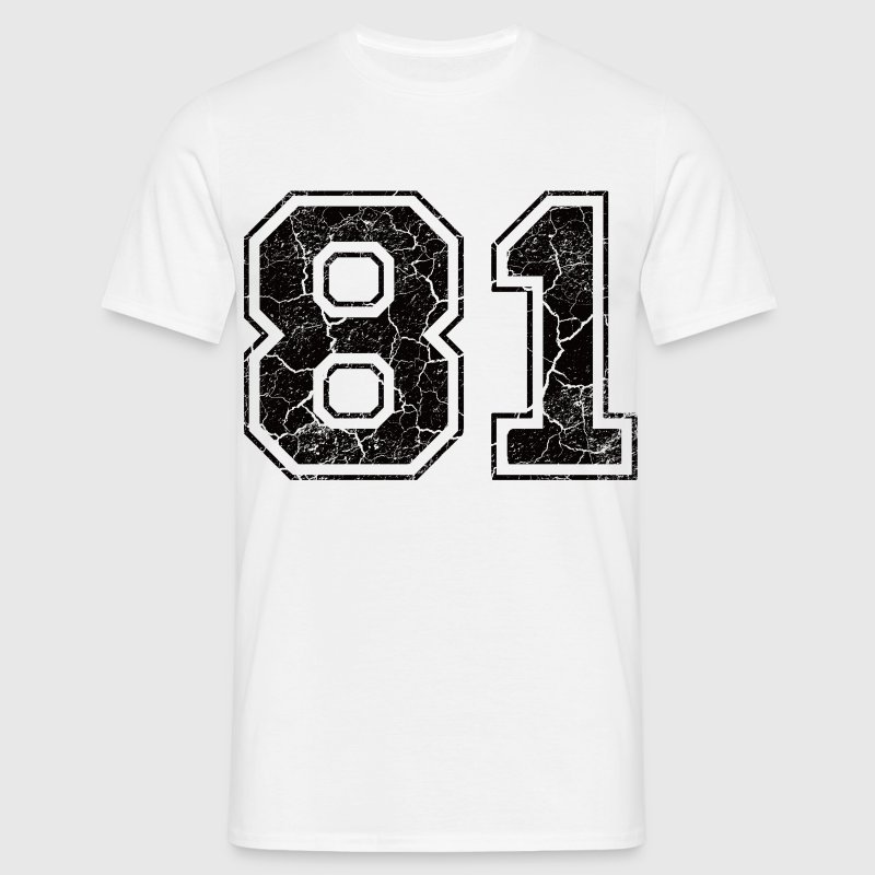 Number 81 in the grunge look Camisetas - Camiseta hombre
