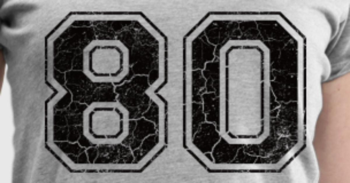 Number 80 in the grunge look T-Shirt