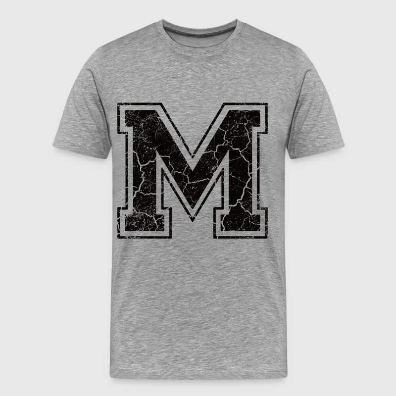 Letter M in the grunge look T-Shirts - Men's Premium T-Shirt