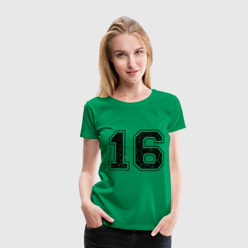 Nummer 16 i Used Look T-shirts - Premium-T-shirt dam