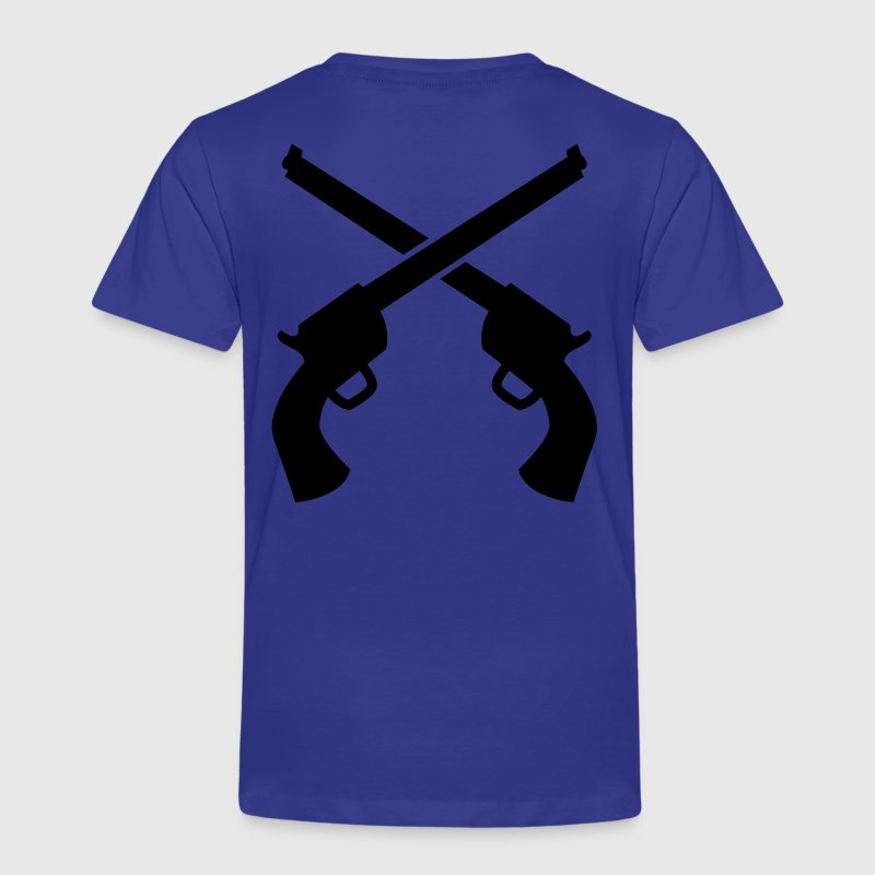 gunslinger guns crossed plain Shirts - Kids' Premium T-Shirt