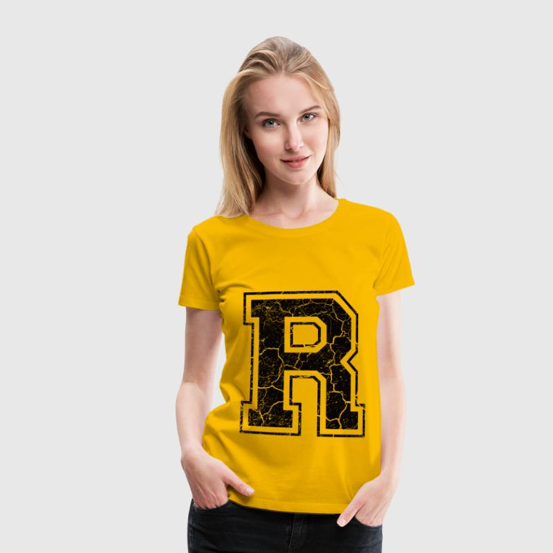 Letter R in the grunge look T-Shirts - Women's Premium T-Shirt