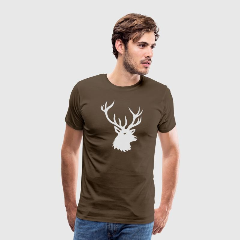 cerf ramure bois corne cornes animal sauvage chass Tee shirts - T-shirt Premium Homme