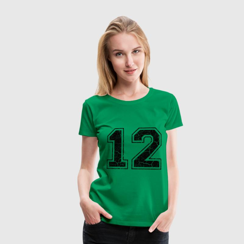 Nummer 12 i Used Look T-shirts - Premium-T-shirt dam
