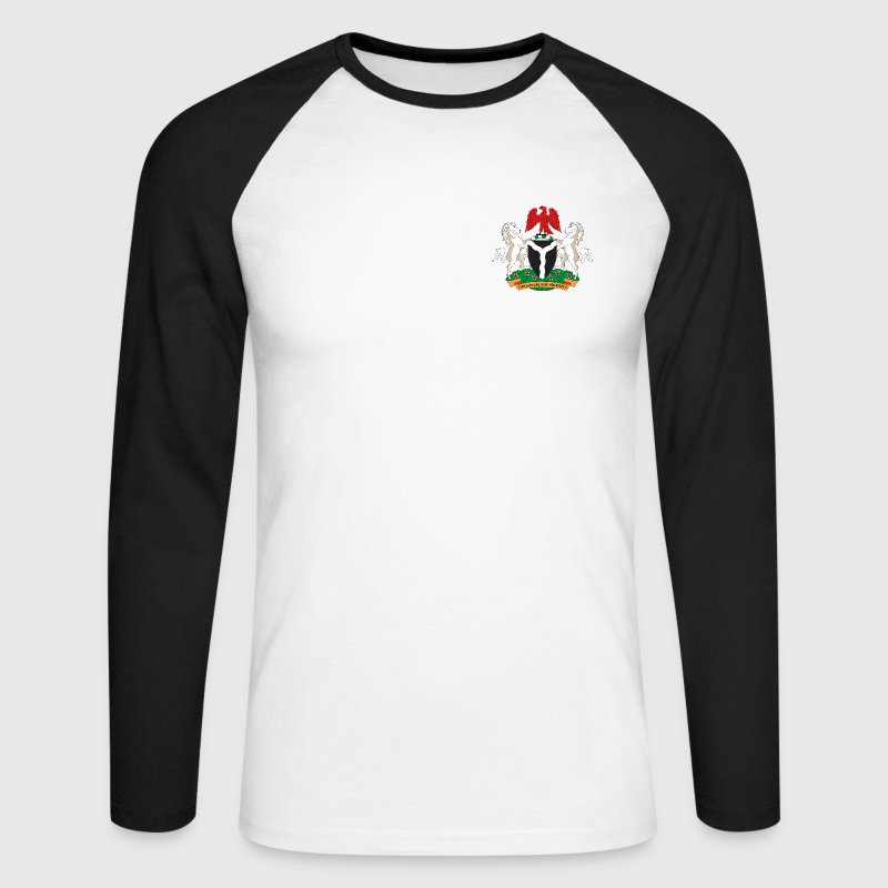 naija arms - Men's Long Sleeve Baseball T-Shirt