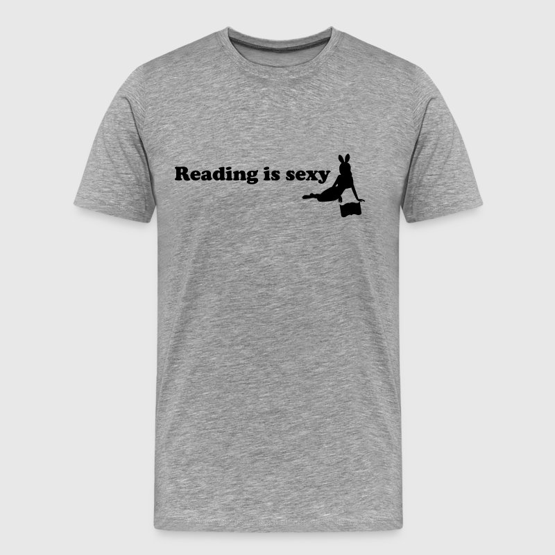 reading is sexy T-Shirts - Men's Premium T-Shirt