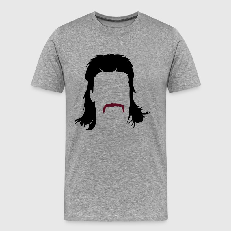 Mullet hairstyle with Schnautzbart  T-Shirts - Men's Premium T-Shirt
