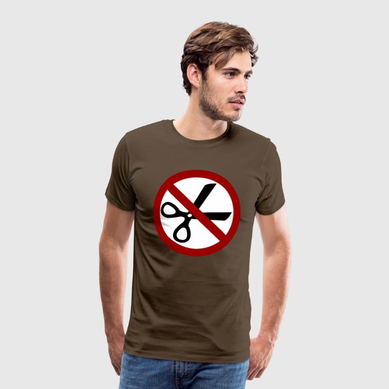 Scissors ban  T-Shirts - Men's Premium T-Shirt