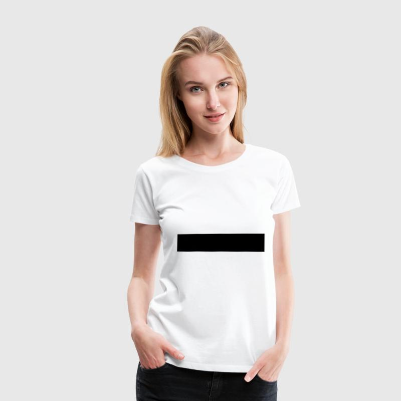Censorship censored 1c black bar T-Shirts - Women's Premium T-Shirt