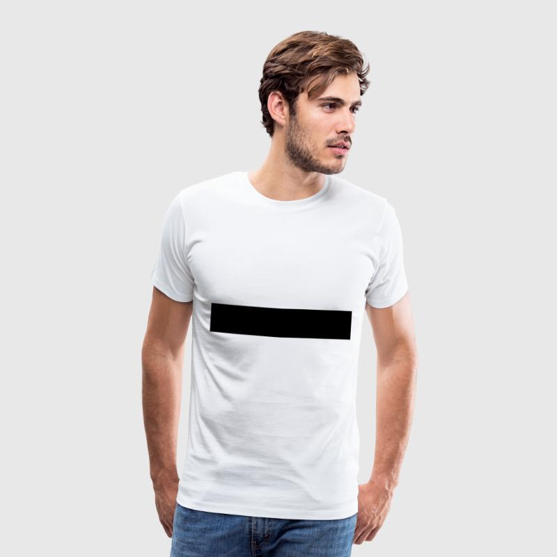 Censorship censored 1c black bar T-Shirts - Men's Premium T-Shirt