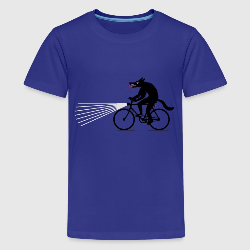Wolf on bike T-Shirts - Teenager Premium T-Shirt