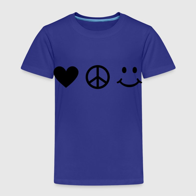 BE HAPPY - Love Heart Peace Sign Smiley Happiness Shirts - Kids' Premium T-Shirt