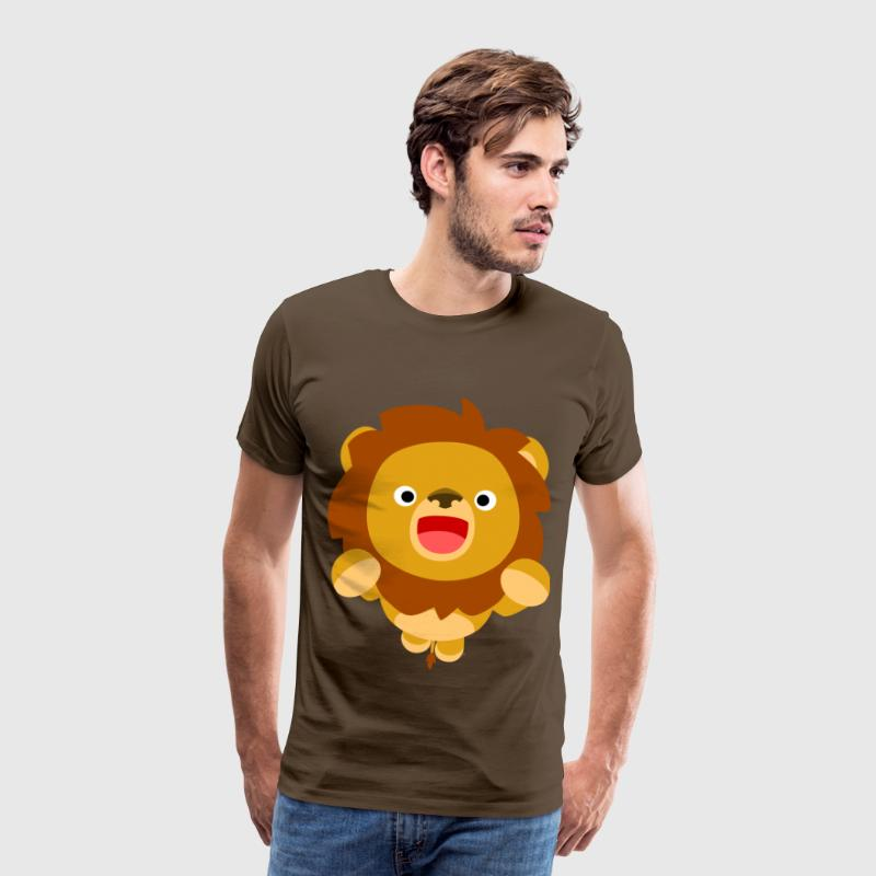 Hi! Cute Playful Cartoon Lion Cheerful Madness!! T-Shirts - Men's Premium T-Shirt