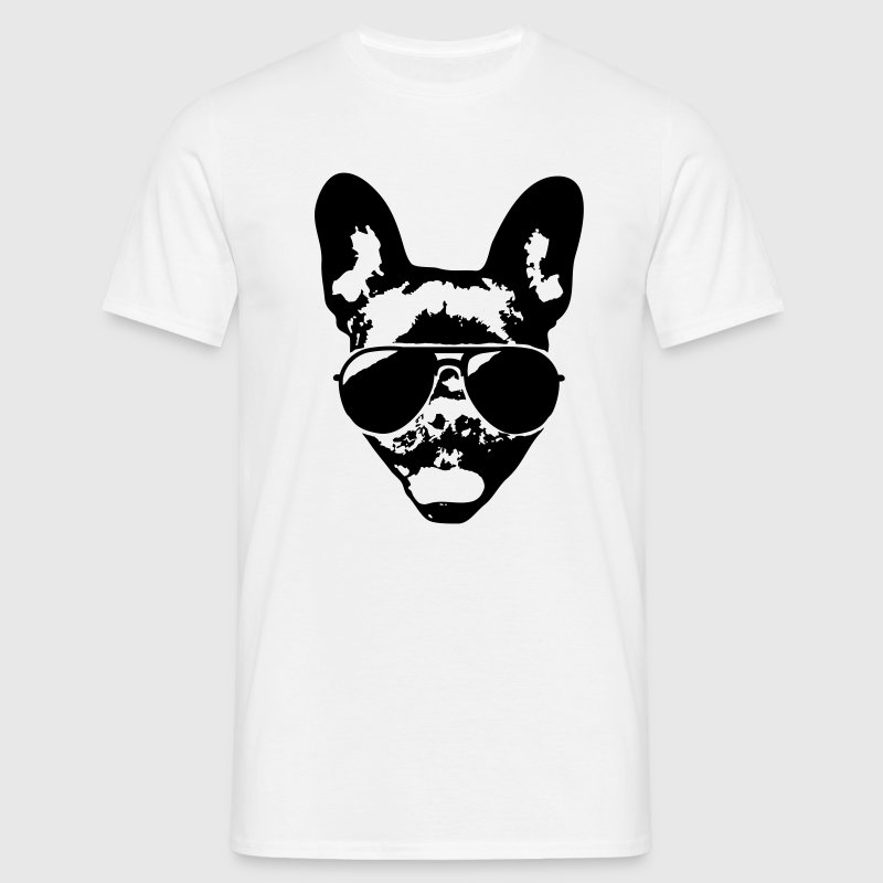 French bulldog with sunglasses T-Shirts - Men's T-Shirt