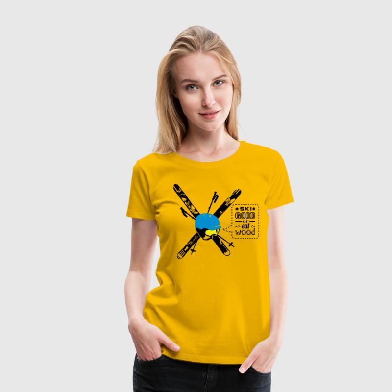 Free Ski Compilation - Ski Good or eat Wood (Flexd - Frauen Premium T-Shirt