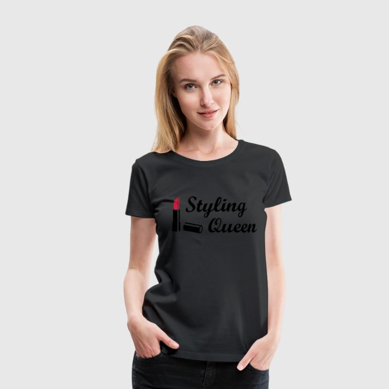 Styling Queen * Design Style Mode Lipstick T-shirts - Vrouwen Premium T-shirt