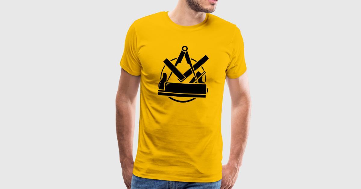 tischler emblem schreiner logo tischlerzunft t shirt spreadshirt. Black Bedroom Furniture Sets. Home Design Ideas