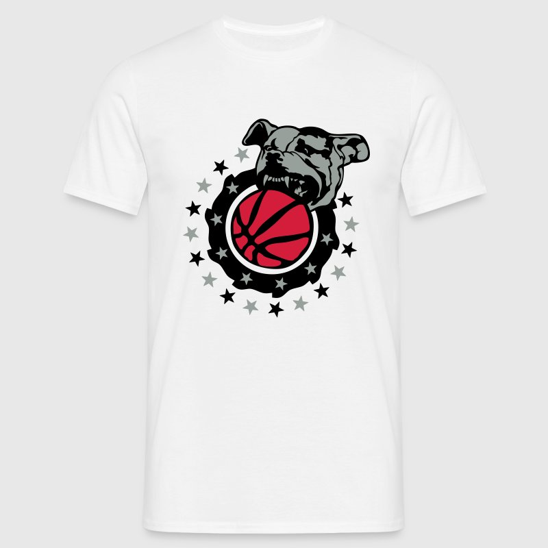 basketball club logo dog pitbull dog - Men's T-Shirt