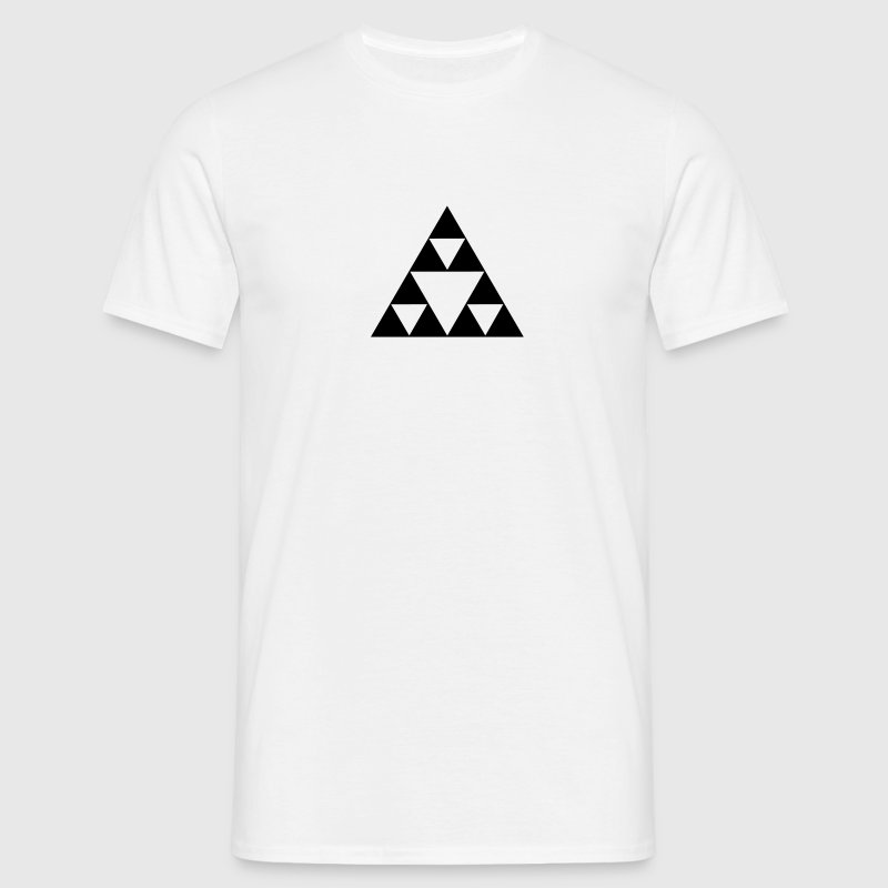 Sierpinski triangle, fractal, geometry,mathematics T-Shirts - Men's T-Shirt
