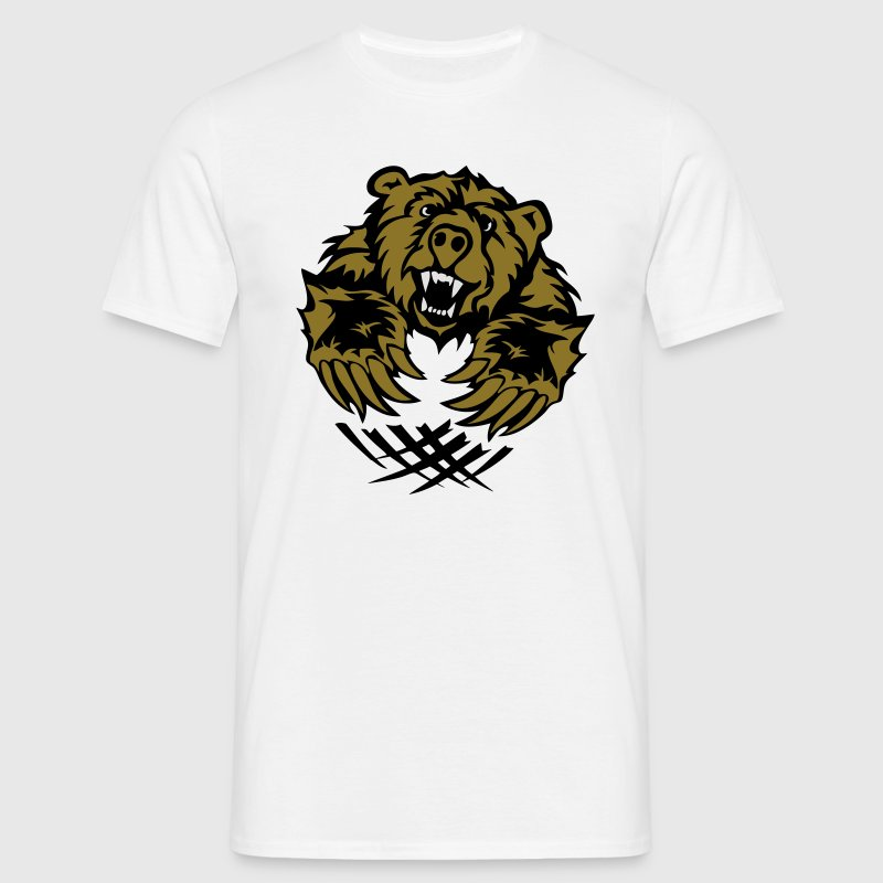 ours bear tragen griffes offensive logo Tee shirts - T-shirt Homme