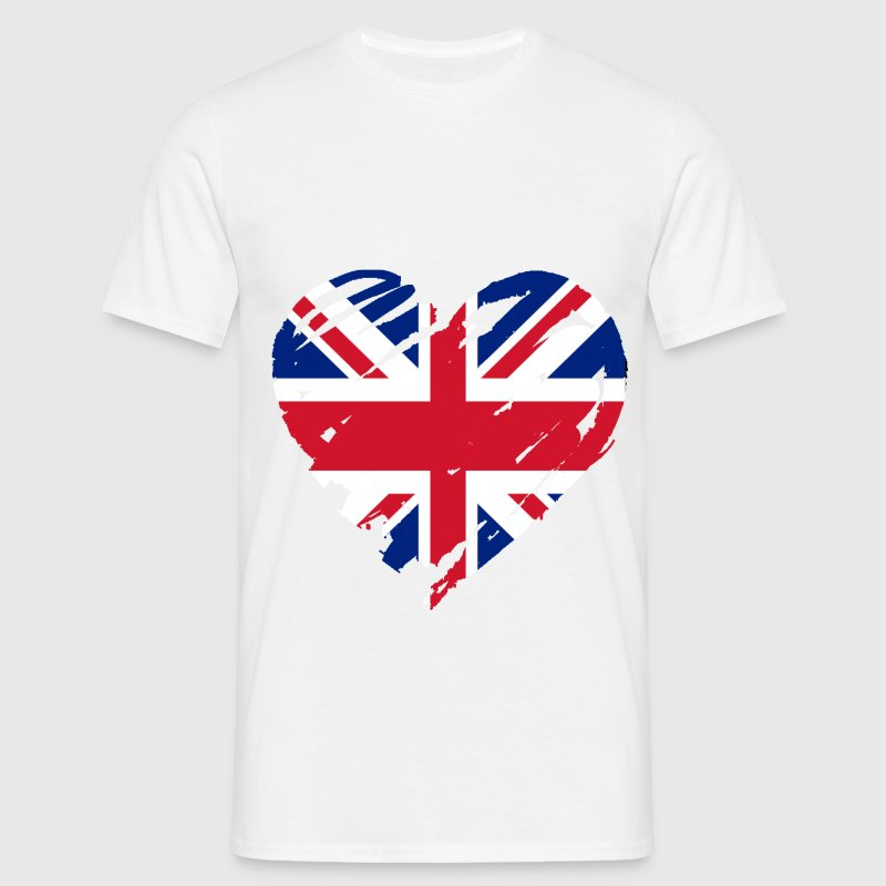 united kingdom heart T-Shirts - Men's T-Shirt