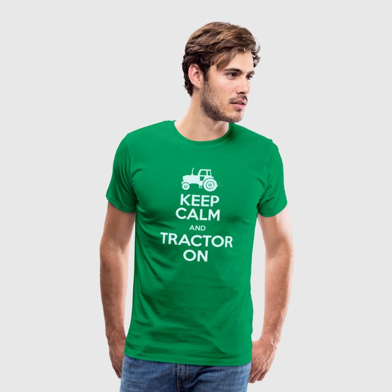 Keep Calm & Tractor On - Men's Premium T-Shirt