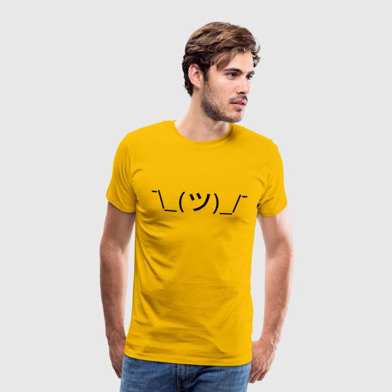 Shrug Emoticon ¯\_(ツ)_/¯ Japanese Kaomoji Tee - Men's Premium T-Shirt