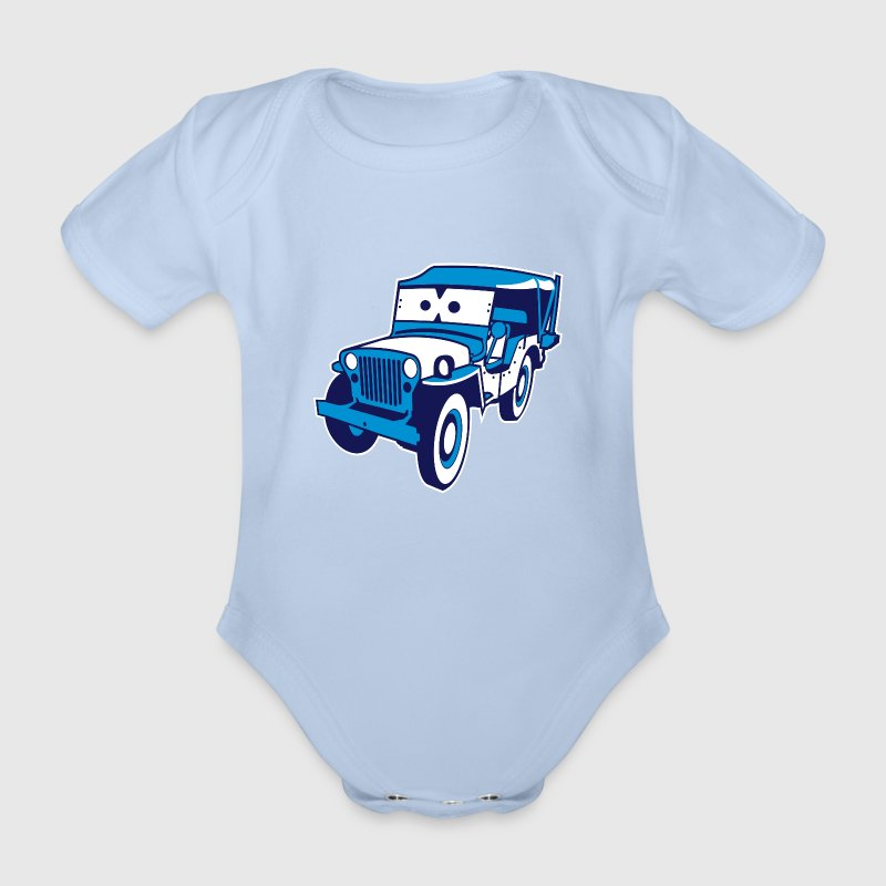 Cars for Kids: Safari-Jeep Camisetas - Body orgánico de maga corta para bebé