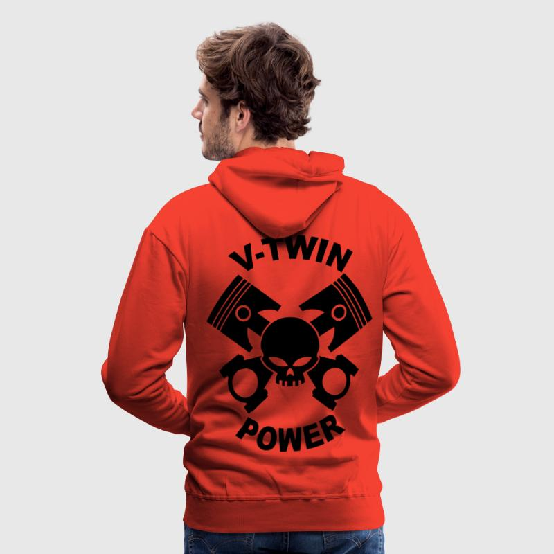 V-twin power skull Hoodies & Sweatshirts - Men's Premium Hoodie