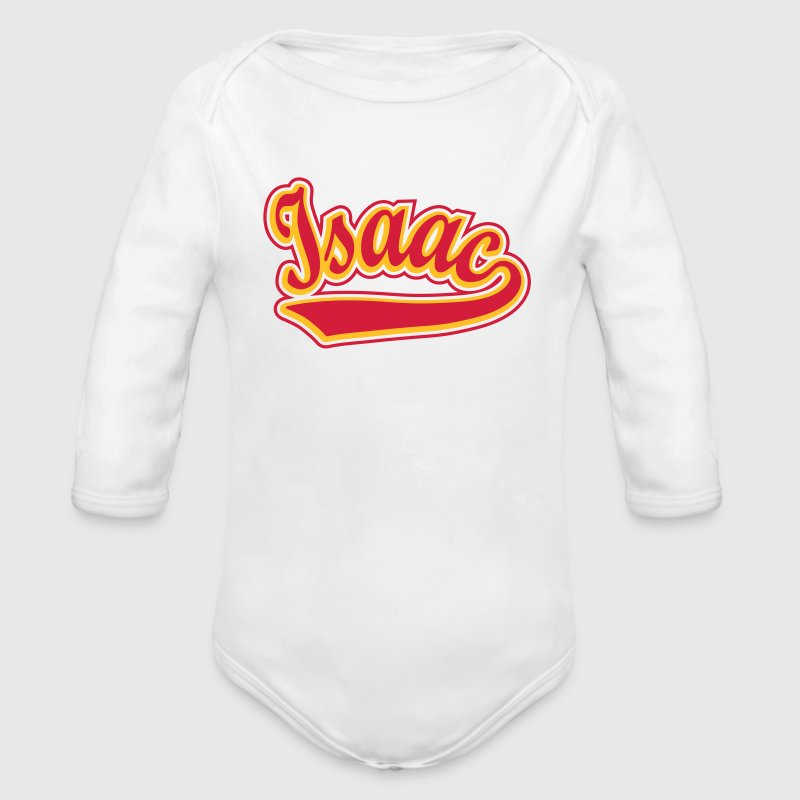 Isaac - T-shirt Personalised with your name Hoodies - Organic Longsleeve Baby Bodysuit