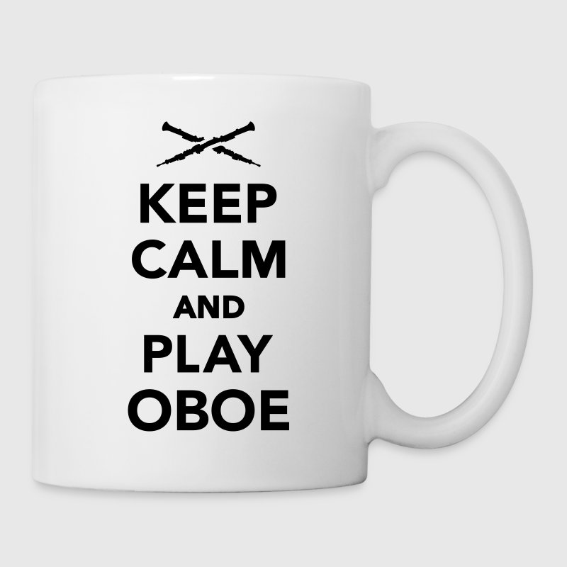 Keep calm and play Oboe Flaschen & Tassen - Tasse