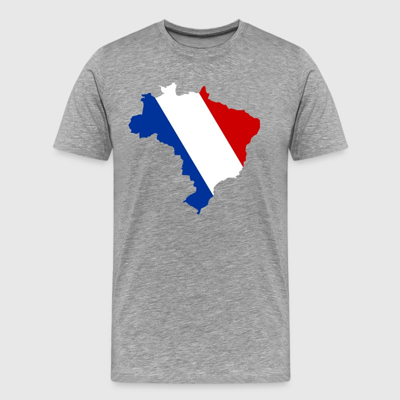 France Brazil outline T-Shirts - Men's Premium T-Shirt