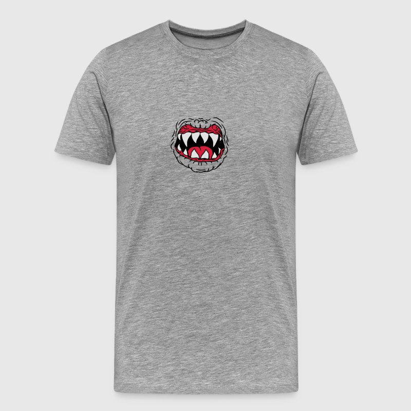 Horror Halloween onda Monster mun T-shirts - Premium-T-shirt herr