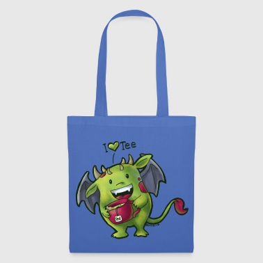 White/red Tee Monster Mugs & Drinkware - Tote Bag
